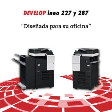 Ineo 227 y 287 multifuciones laser monocromo de Develop