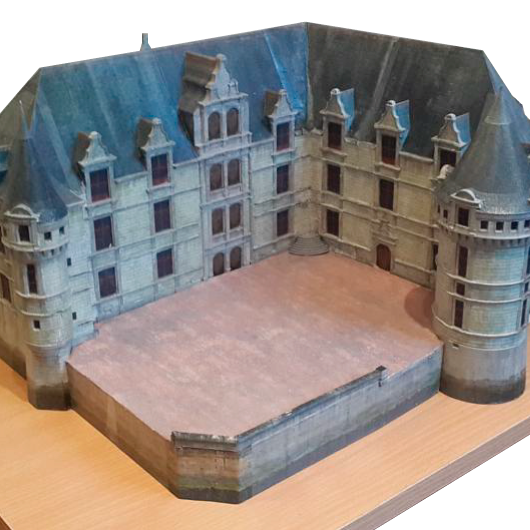 Castillo 3d impresion papel color